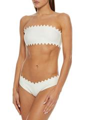 Onia Woman Astrid Laser-cut Low-rise Bikini Briefs White