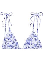 Onia Woman Avery Floral-print Triangle Bikini Top White