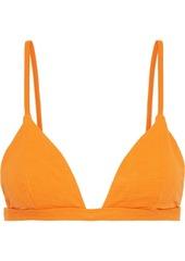 Onia Woman Danni Textured Triangle Bikini Top Orange