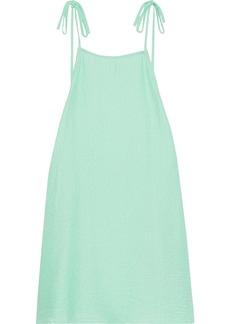 Onia Woman Daphne Open-back Cloqué Mini Dress Mint