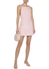 Onia Woman Daphne Open-back Linen Mini Dress Baby Pink