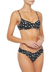 Onia Woman Delilah Floral-print Low-rise Bikini Briefs Black