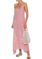 Onia Woman Elise Asymmetric Striped Cotton-jacquard Maxi Dress Red