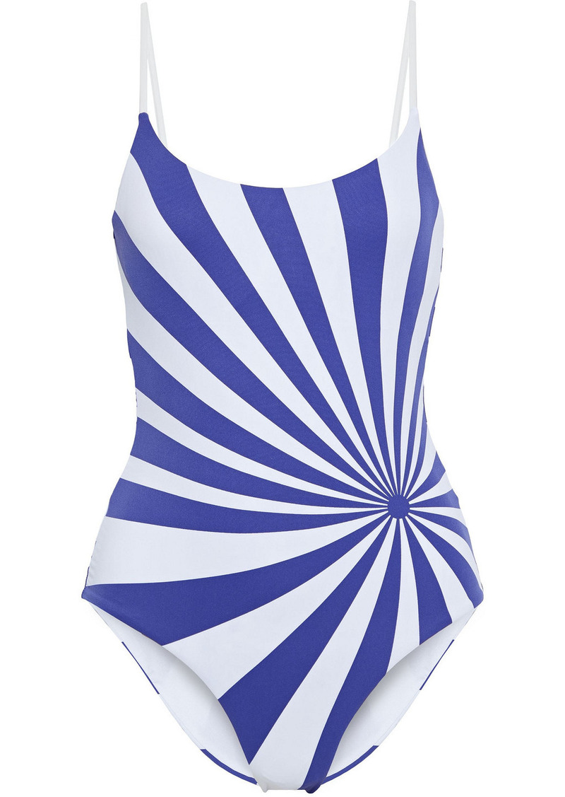 Onia Woman Gabriella Printed Swimsuit Royal Blue