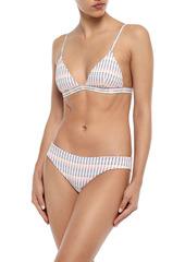 Onia Woman Intarsia Mid-rise Bikini Briefs White