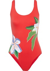Onia Woman Kelly Floral-print Swimsuit Red