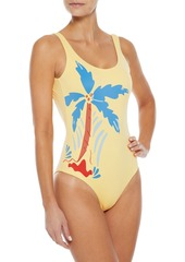 Onia Woman Kelly Printed Swimsuit Pastel Yellow