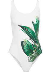 Onia Woman Kelly Printed Swimsuit White
