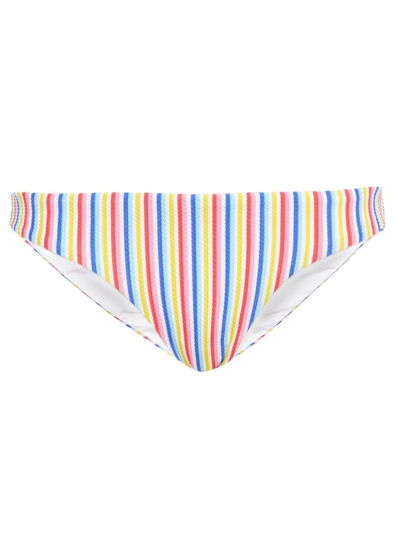 Onia Woman Lily Striped Stretch-piquè Low-rise Bikini Briefs Multicolor