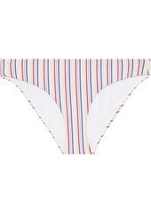 Onia Woman Lily Striped Stretch-seersucker Low-rise Bikini Briefs Multicolor