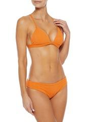 Onia Woman Lily Textured Low-rise Bikini Briefs Marigold