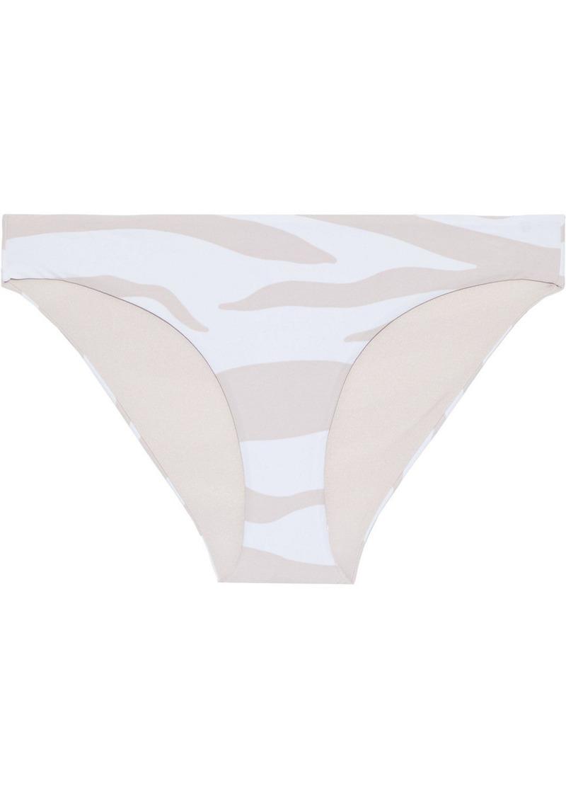 Onia Woman Lily Zebra-print Low-rise Bikini Briefs Blush