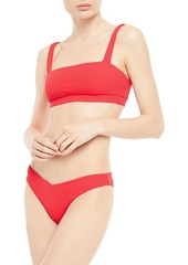 Onia Woman Zoe Ribbed Bikini Top Tomato Red