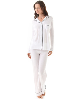 Only Hearts Women's Maternity Organic Cotton Piped Pajama