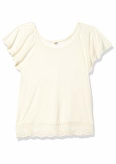 Only Hearts Women's Venice Lace Hem Sleep T-Shirt