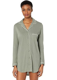 Only Hearts Organic Cotton Piped Front Night Shirt