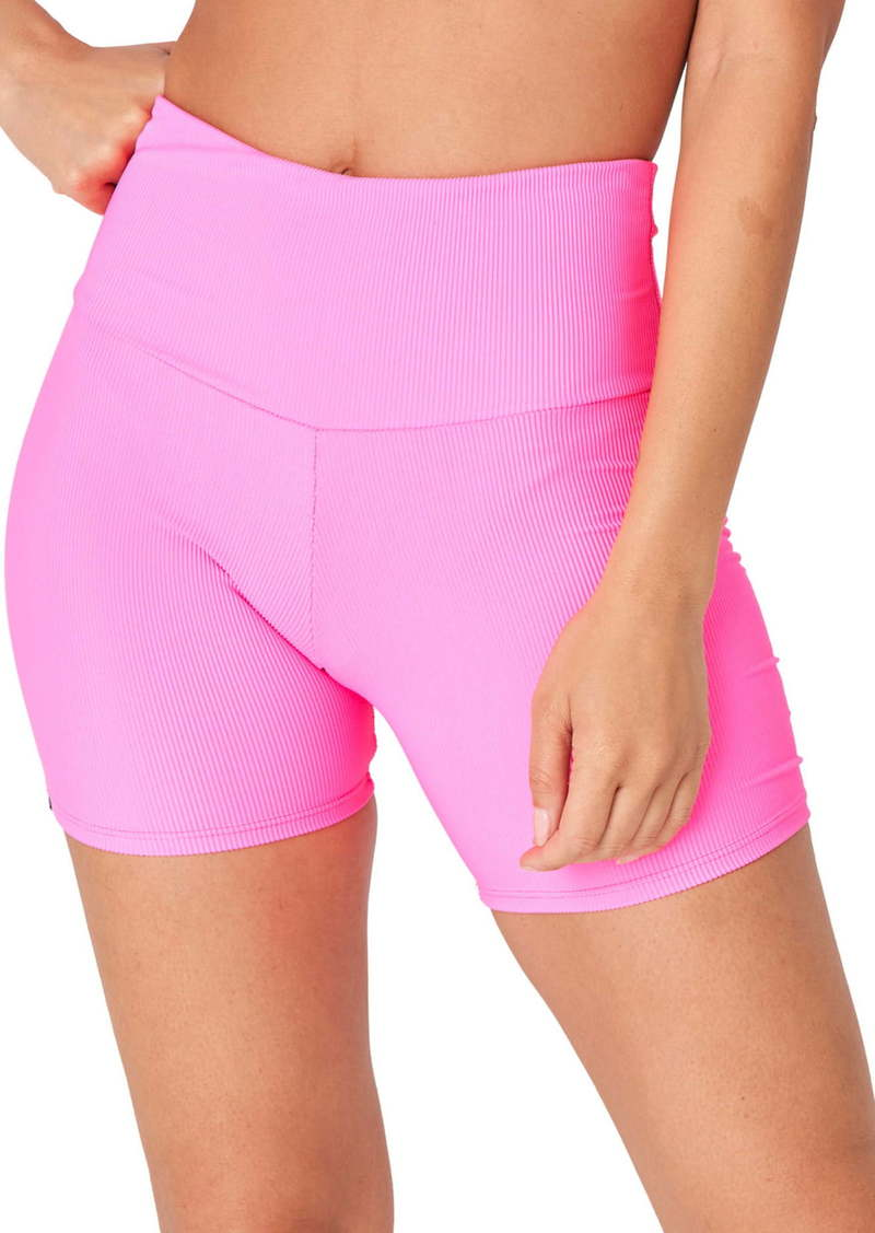 Onzie High Waist Rib Bike Shorts