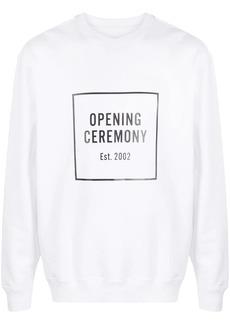 Opening Ceremony box logo crew neck sweatshirt