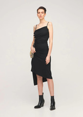 Paco Rabanne Asymmetric Light Jersey Dress