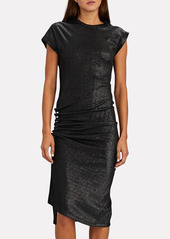 Paco Rabanne Asymmetrical Lurex T-Shirt Dress