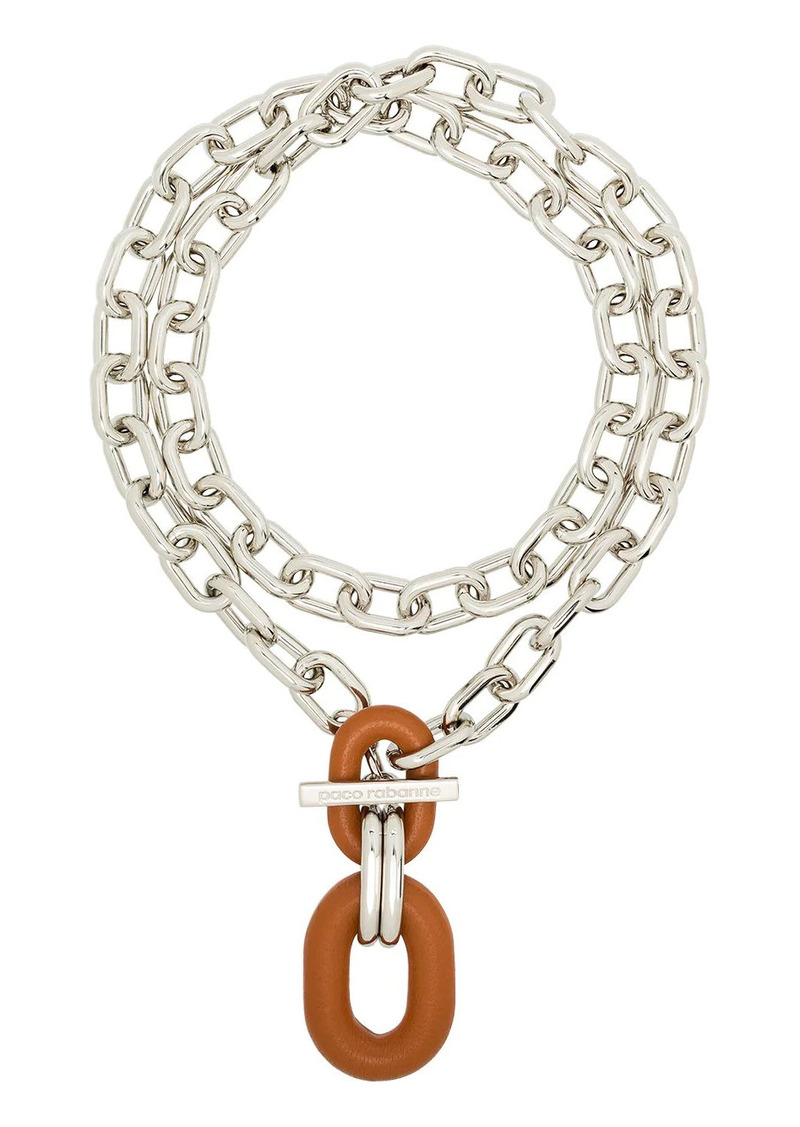 Paco Rabanne chain-link appliqué necklace