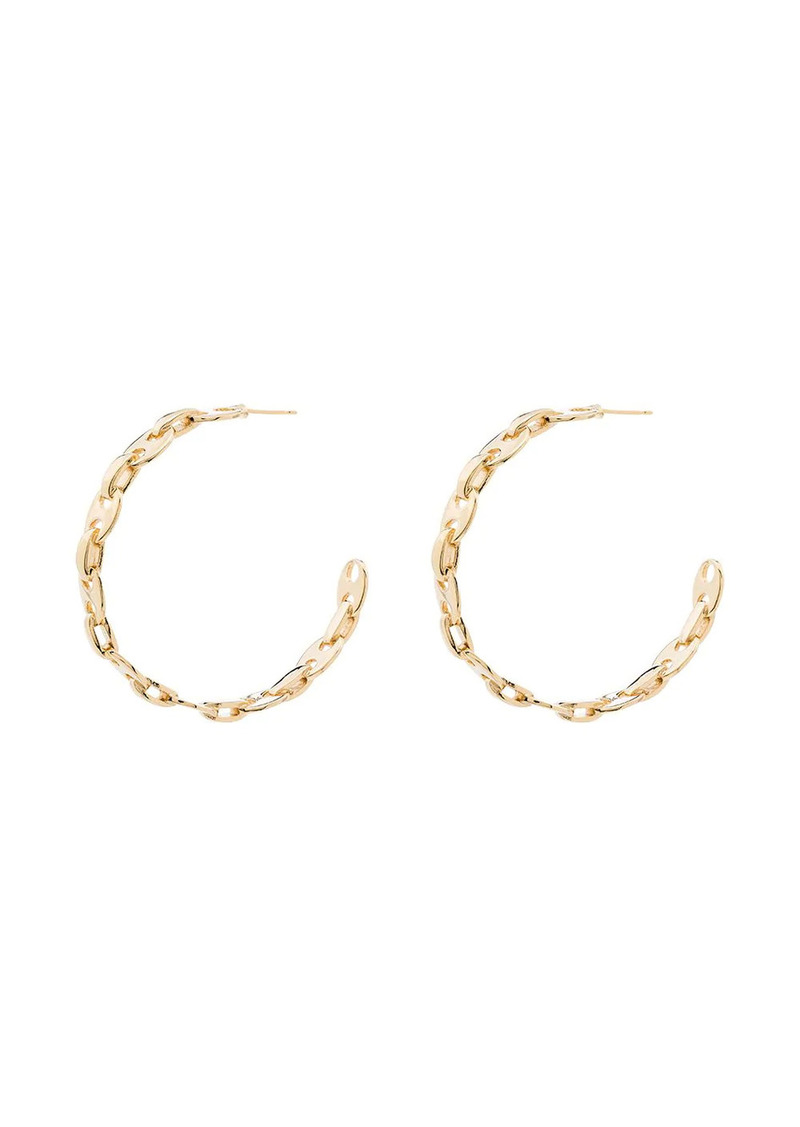 Paco Rabanne chain-link hoop earrings