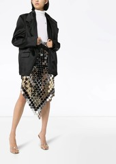 Paco Rabanne chain-link pointed midi skirt