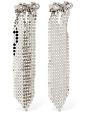 Paco Rabanne Chainmail Earrings W/ Crystal Bow
