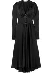 Paco Rabanne Crystal-embellished Charmeuse Dress