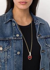 Paco Rabanne disc pendant chain necklace