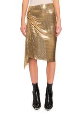 Paco Rabanne Draped Chainmail Mini Skirt