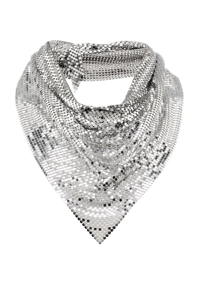 Paco Rabanne draped mesh necklace