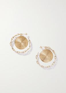 Paco Rabanne Eight Nano Gold-plated Hoop Earrings