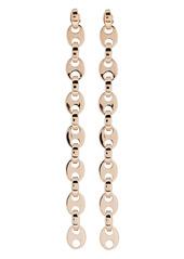 Paco Rabanne Eight Nano Linear Chain-Link Earrings