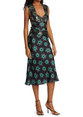 Paco Rabanne Embellished Floral Midi Dress