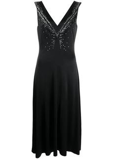 Paco Rabanne embellished V-neck dress