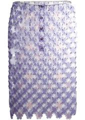 Paco Rabanne floral mini skirt