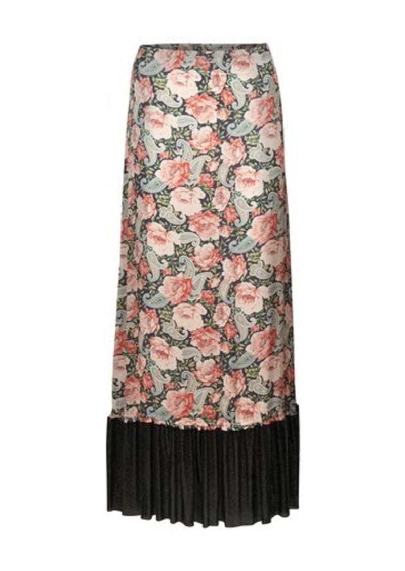 Paco Rabanne Floral print skirt