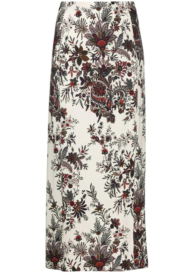 Paco Rabanne floral-print skirt