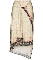Paco Rabanne floral-print wraparound skirt