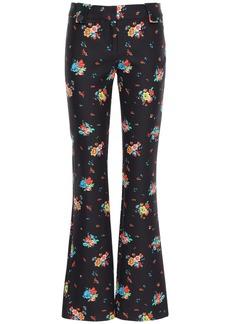 Paco Rabanne Floral Printed Cotton Blend Pants