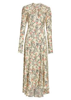 Paco Rabanne Floral Satin Dress