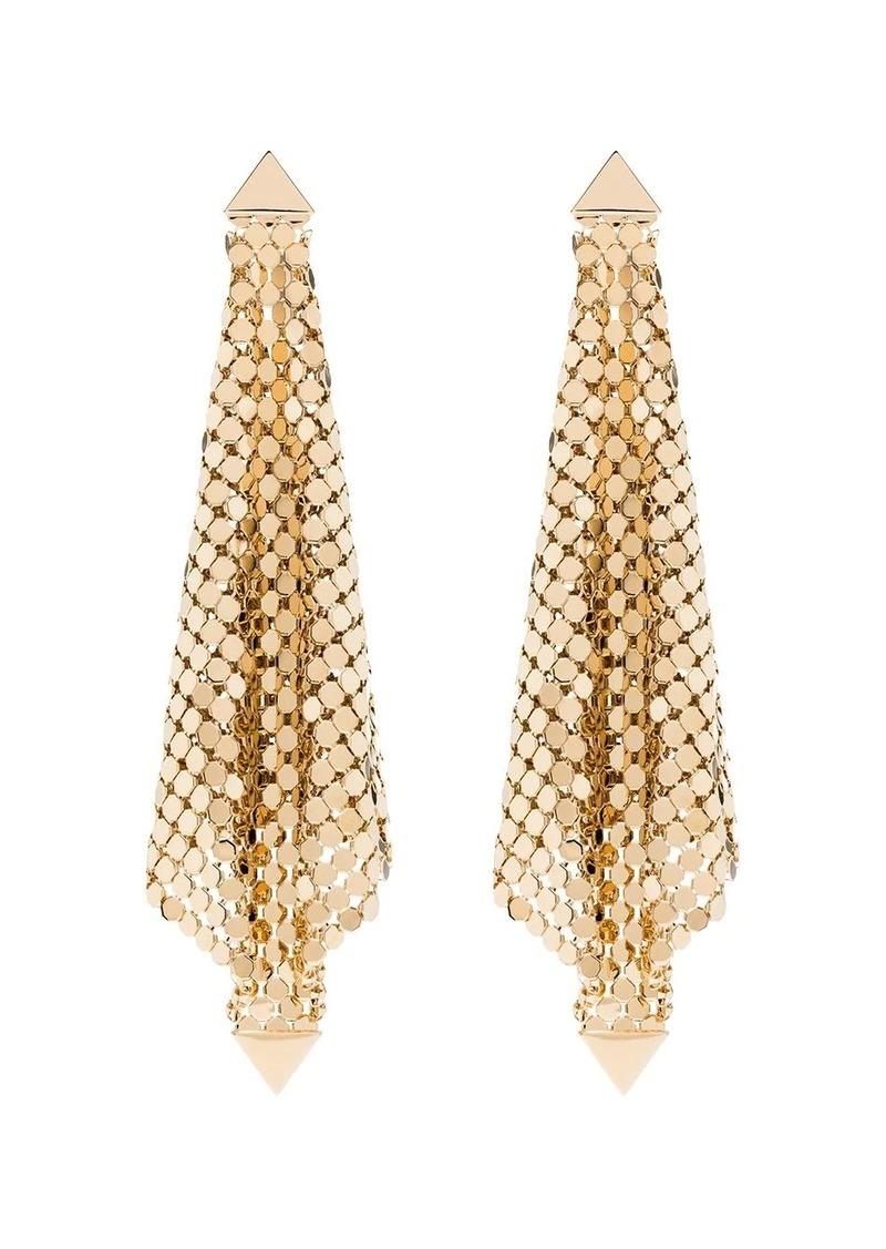 Paco Rabanne gold-tone chain mesh earrings
