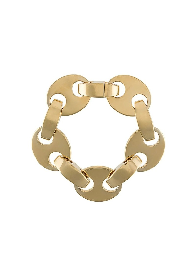 Paco Rabanne gold-tone disc and clasp bracelet