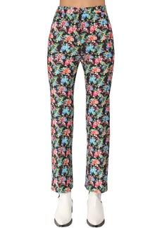 Paco Rabanne High Waist Cotton & Viscose Pants