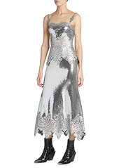 Paco Rabanne Jupe Embroidered Sequin Mermaid Skirt