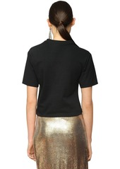 Paco Rabanne Knotted Print Cotton Jersey T-shirt