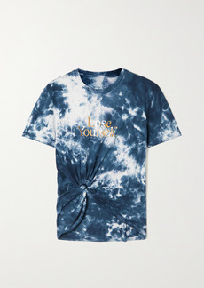 Paco Rabanne Knotted Printed Tie-dyed Cotton Jersey T-shirt