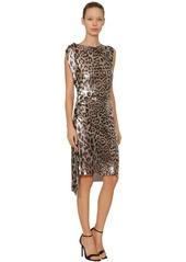 Paco Rabanne Leopard Metal Mesh Midi Dress