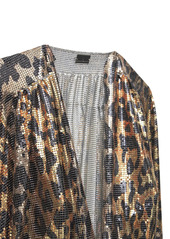 Paco Rabanne Leopard Print Metal Mesh Long Dress
